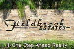 Fieldbrook Estates community sign