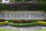 Boca Bath and Tennis community sign